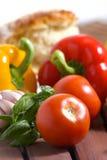 Gemüse und Brot Lizenzfreie Stockfotos