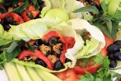 Gemüse und essbare Meerestiere Lizenzfreies Stockbild
