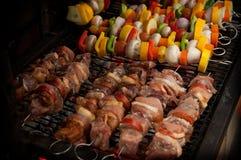 Gemüse und Fleisch Stockfotografie