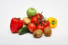 Gemüse und Früchte Stockfotos