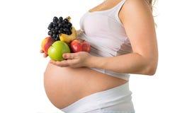 Gemüse und Früchte während der Schwangerschaft Lizenzfreie Stockfotografie