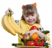 Gemüse und Frucht der Kinder. Stockfotografie