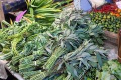 Gemüse und Frucht, Fischmarkt in Morotai-Insel, Indonesien Stockfoto