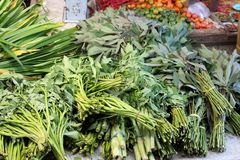Gemüse und Frucht, Fischmarkt in Morotai-Insel, Indonesien Stockbilder