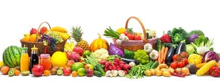 Gemüse- und Fruchthintergrund lizenzfreie stockfotos
