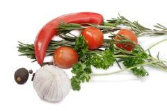 Gemüse und Gewürz Stockbilder