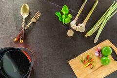 Gemüse und Gewürze für das Kochen Stockbilder