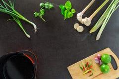 Gemüse und Gewürze für das Kochen Lizenzfreies Stockbild