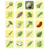 Gemüse- und Grünsammlungsikonensatz Stockfoto