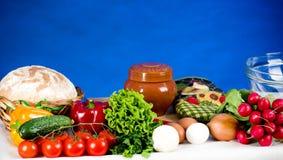 Gemüse- und Nahrungsmittelbestandteile Stockfoto