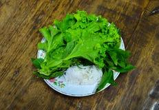 Gemüse und Nudel für Beilage Lizenzfreie Stockfotos