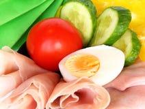 Gemüse und Schinken Lizenzfreies Stockbild