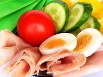 Gemüse und Schinken Lizenzfreie Stockfotos