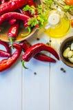 Gemüse und Soße adzhika Stockbild