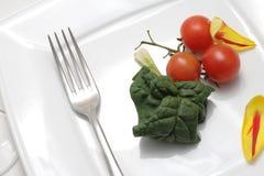 Gemüse und Tulpe Stockbild