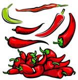 Gemüseabbildungserie Stockfoto