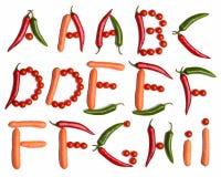 Gemüsealphabet Stockfoto
