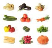 Gemüseanordnung auf weißem Hintergrund Lizenzfreie Stockfotografie