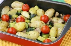 Gemüsebackentellersegment Lizenzfreies Stockbild