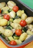 Gemüsebackentellersegment Lizenzfreie Stockfotografie
