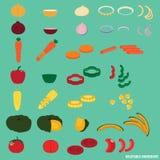 Gemüsebestandteil und Salat Stockfoto