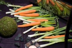 Gemüsebildschirmanzeige Stockbilder