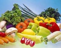 Gemüsebildschirmanzeige. Stockfoto