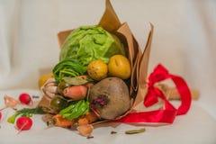 Gemüseblumenstrauß Stockfoto