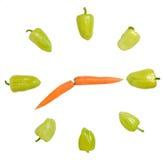 Gemüseborduhr Stockbild