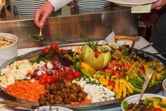 Gemüsebuffet stockfotos