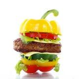 Gemüseburger lizenzfreie stockbilder