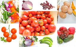 Gemüsecollage Lizenzfreies Stockbild