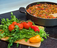 Gemüseeintopfgericht Stockfoto