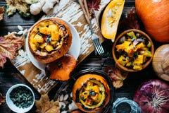 Gemüseeintopfgericht mit Kürbis Lizenzfreies Stockfoto