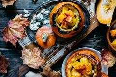 Gemüseeintopfgericht mit Kürbis Stockfotografie