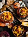 Gemüseeintopfgericht mit Kürbis Lizenzfreie Stockfotografie