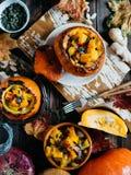 Gemüseeintopfgericht mit Kürbis Stockfoto