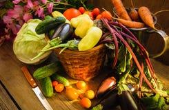 Gemüseernte-Stillleben stockbild