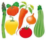 Gemüsefamilie. stock abbildung
