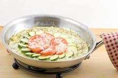 GemüseFritata Stockfoto