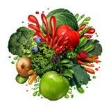 Gemüsefrucht Juice Splash Stockfotografie