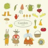 Gemüsegarten des Symbols Lizenzfreies Stockfoto