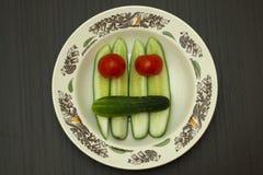 Gemüsegesicht Stockfotografie