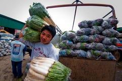 Gemüsehändler lizenzfreies stockbild