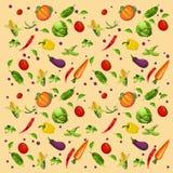 Gemüsehintergrund, sortiert lizenzfreie abbildung