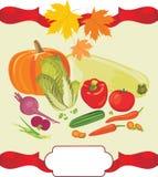 Gemüsehintergrund zum Danksagungstag Lizenzfreies Stockbild