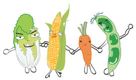 Gemüseholdinghände Lizenzfreies Stockbild