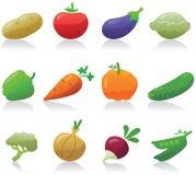 Gemüseikonen Stockbild