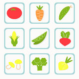 Gemüseikonen Stockfotografie