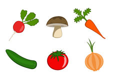 Gemüseikonen Lizenzfreie Stockfotografie